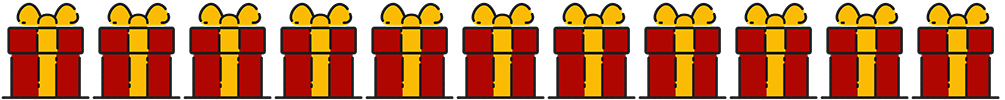 Gift Icon Strip Laptop